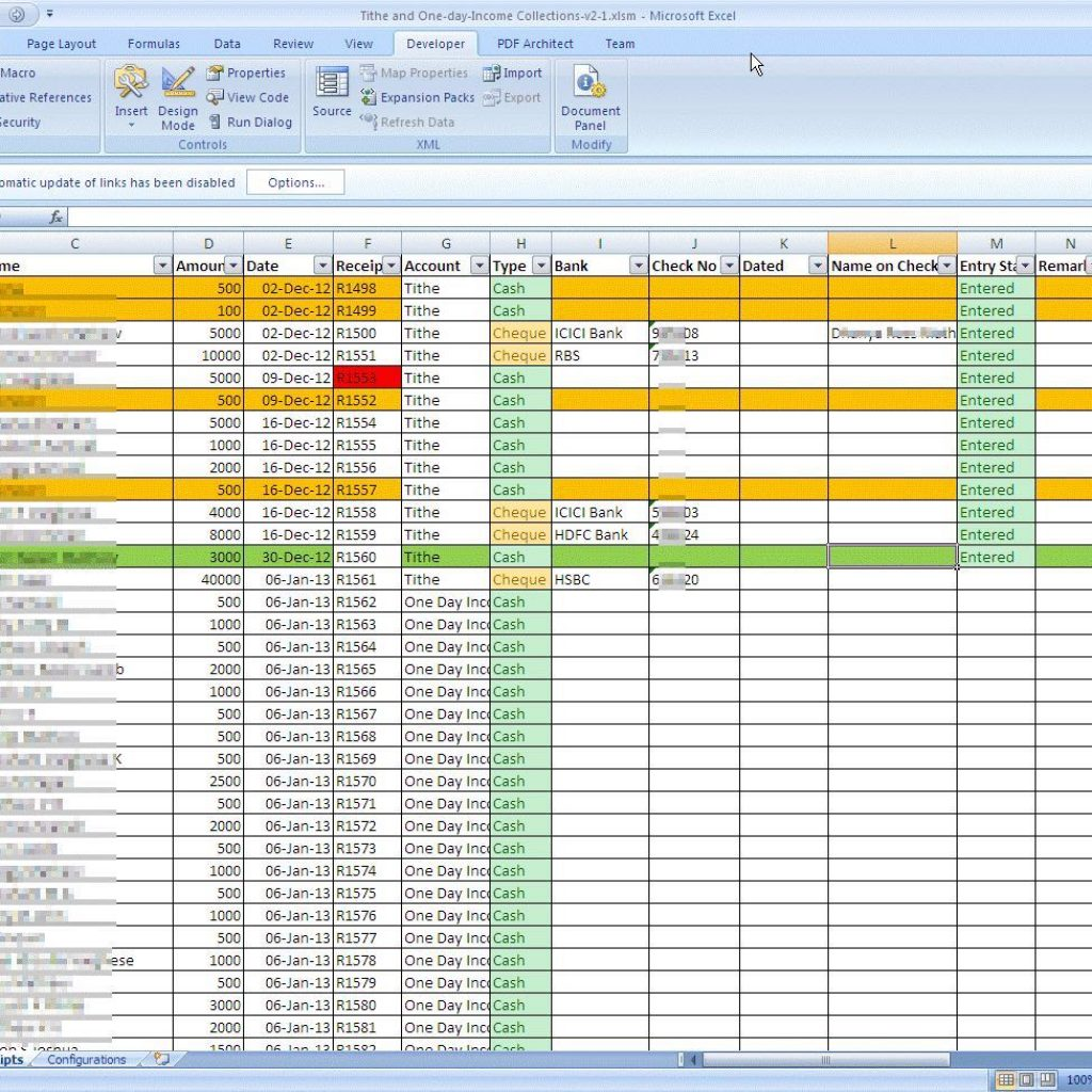 Free Church Tithe And Offering Spreadsheet   Ondy Spreadsheet