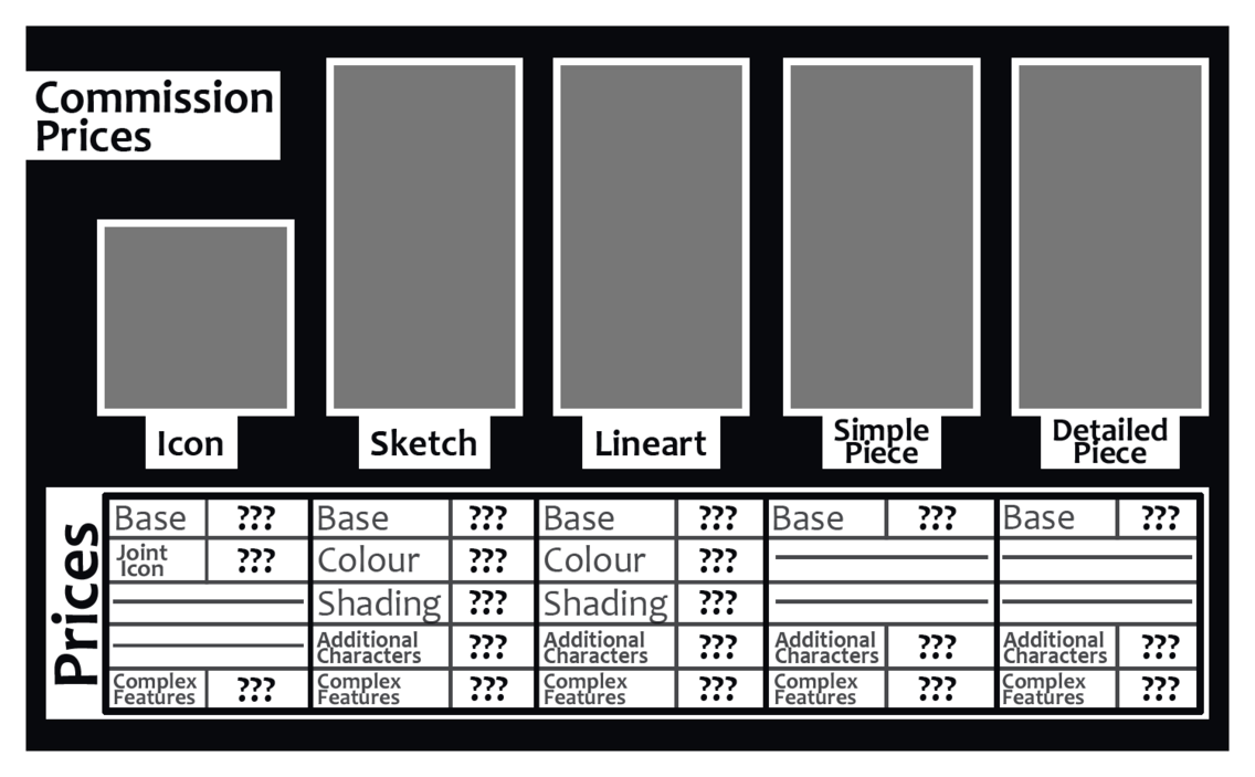 FREE Commission Prices TEMPLATE by Jenny2 point 0 on DeviantArt