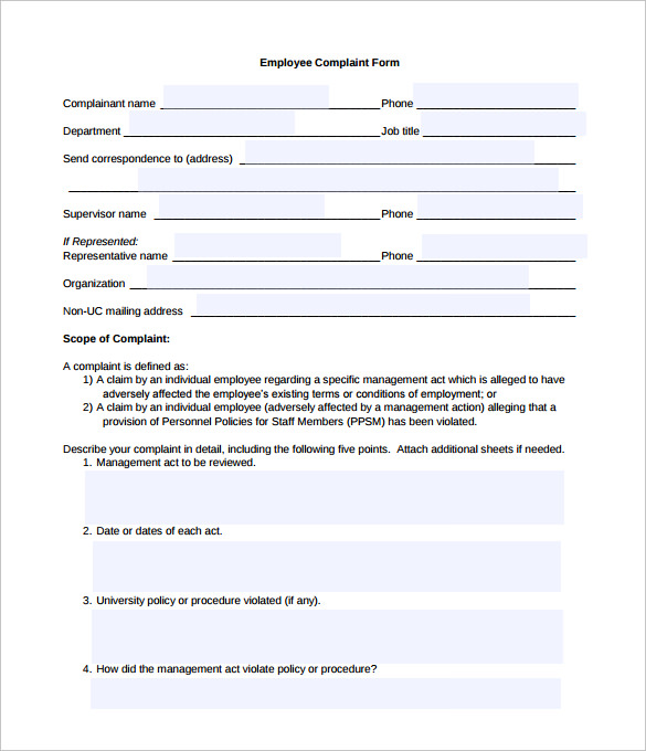 Complaint forms template charlotte clergy coalition complaint forms template spiritdancerdesigns Gallery