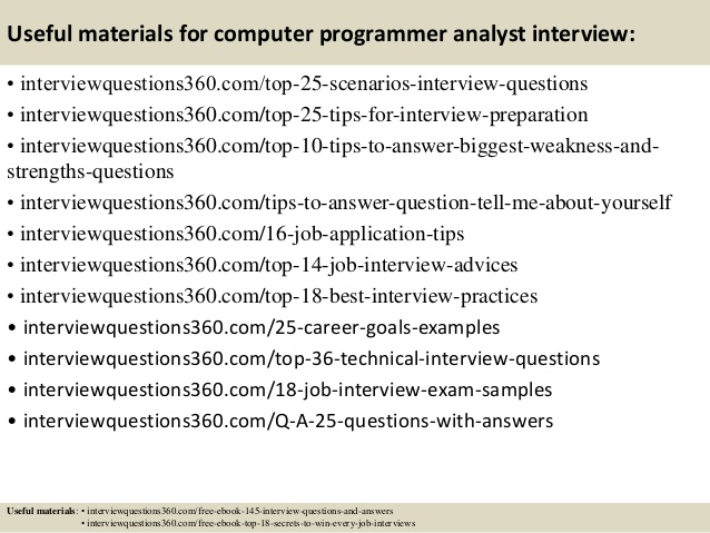 Computer Programmer Interview Questions charlotte clergy coalition