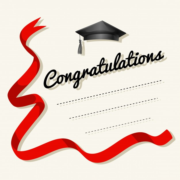 Card template with congratulations word Vector | Free Download