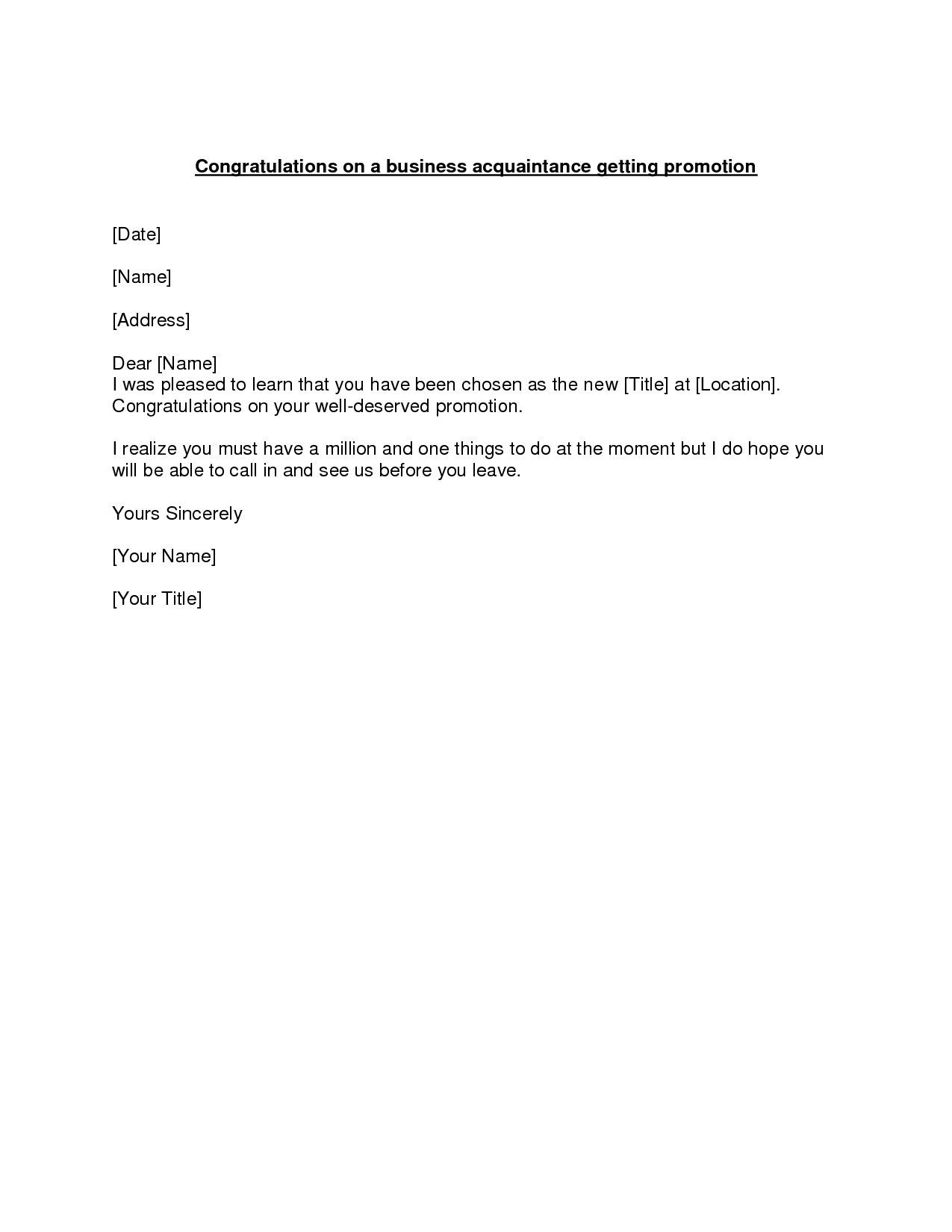 Norwest Financial Promotion to Branch Manager Congratulations Letter …