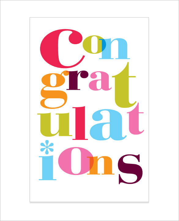 congratulations card templates   Kleo.beachfix.co
