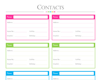 Contact List Template   4 Free Word, PDF Documents Download | Free