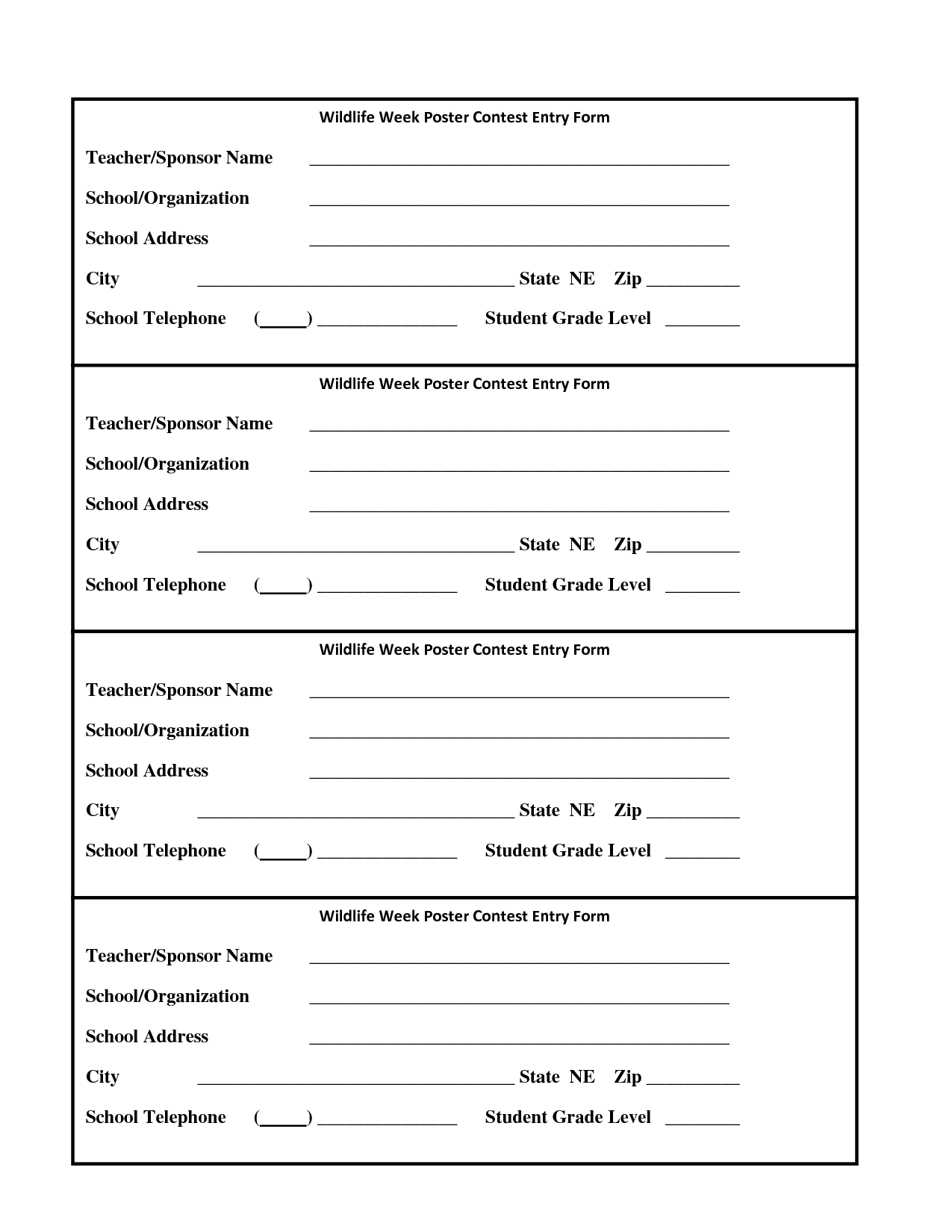 entry form template contest entry form sample contest entry form