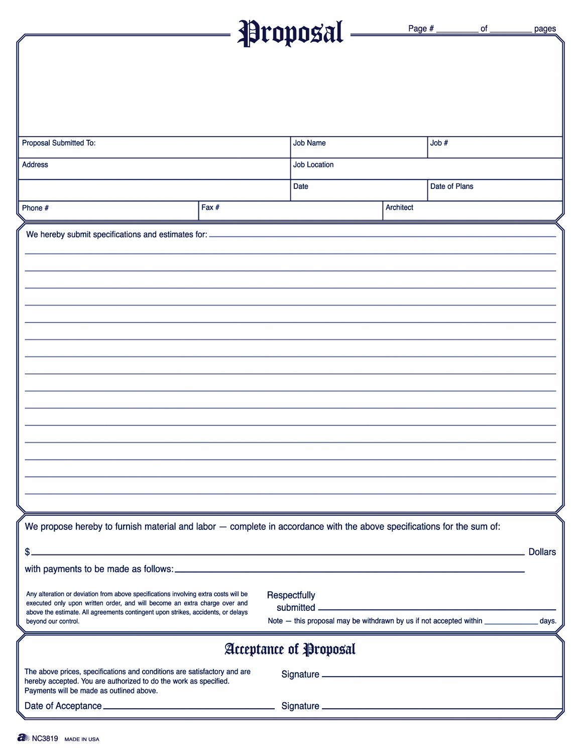 Electrical Contractor Proposal Template Bid Proposal Templates 19