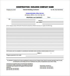 contractor proposal template pdf charlotte clergy coalition. Black Bedroom Furniture Sets. Home Design Ideas
