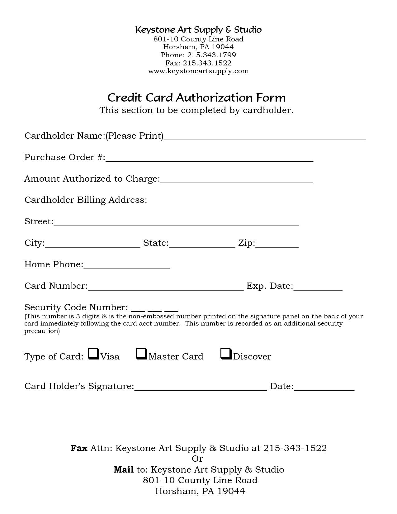 free credit card authorization form template   Boat.jeremyeaton.co