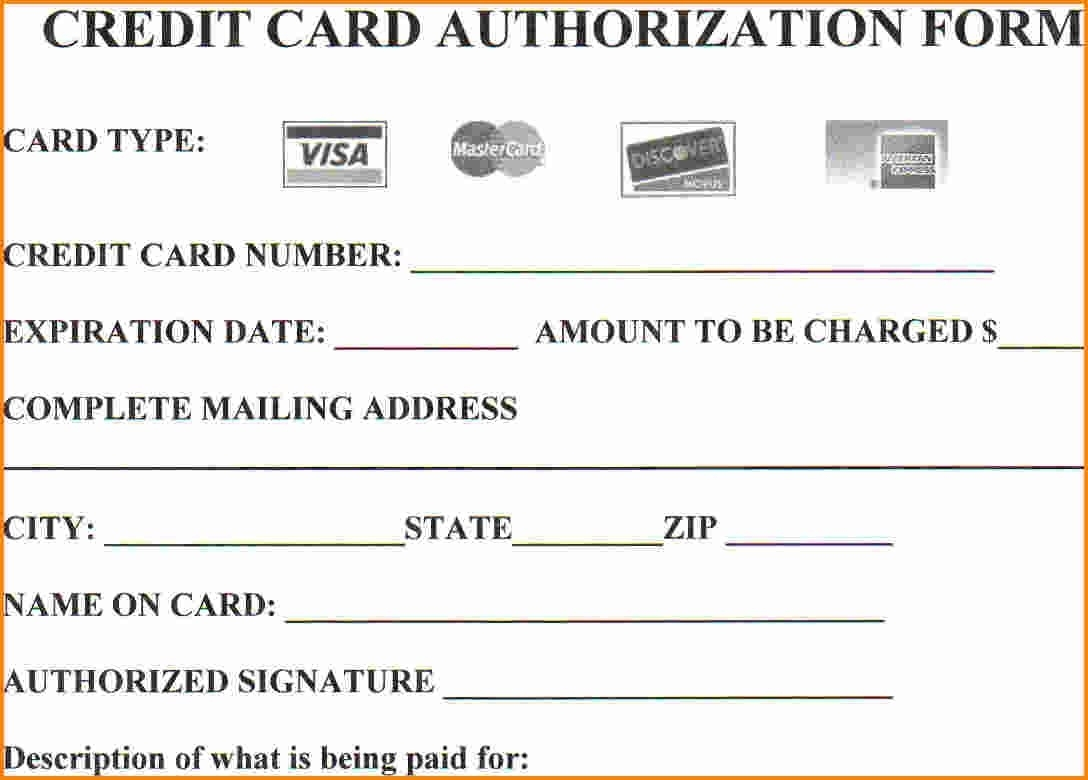 credit card authorization form template microsoft   Boat