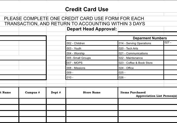 Credit Card Reconciliation Template Charlotte Clergy Coalition