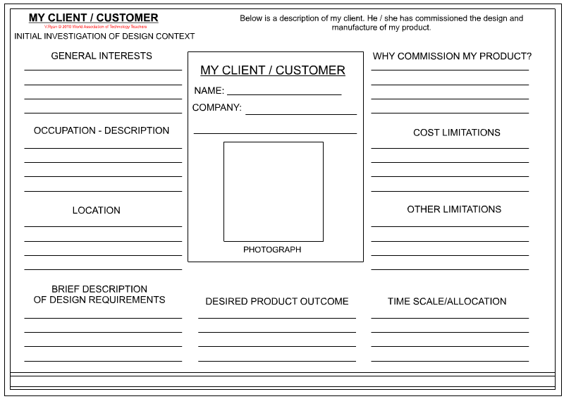 Customer Profile Template Word | charlotte clergy coalition