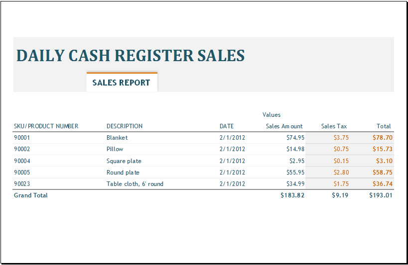 daily sales template   Gecce.tackletarts.co