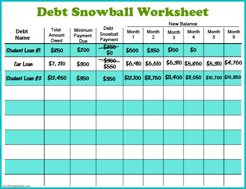 Debt Snowball Form Template