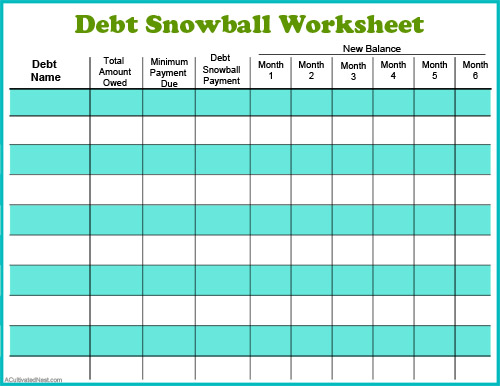 debt snowball form   Tier.brianhenry.co