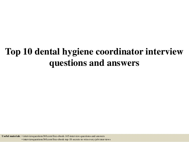 dental hygienist interview questions   Kleo.beachfix.co