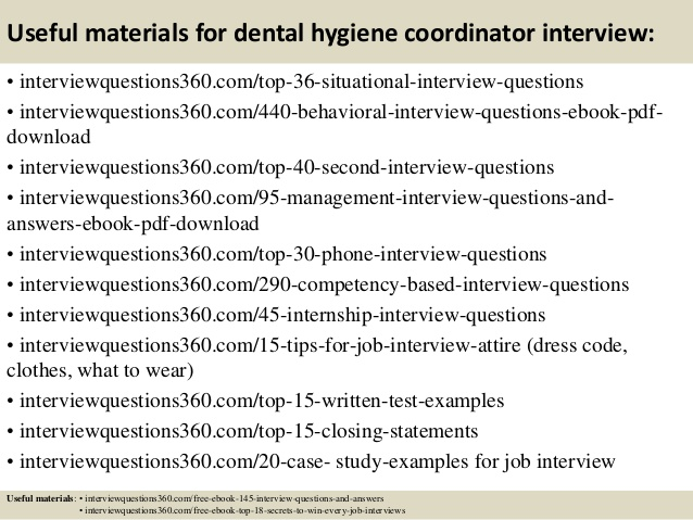 Dental Hygienist Interview Questions Template