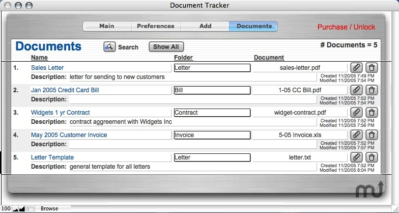 Document Tracker 1.0 free download for Mac | MacUpdate