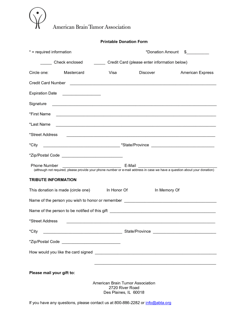 Donation Form Template | charlotte clergy coalition