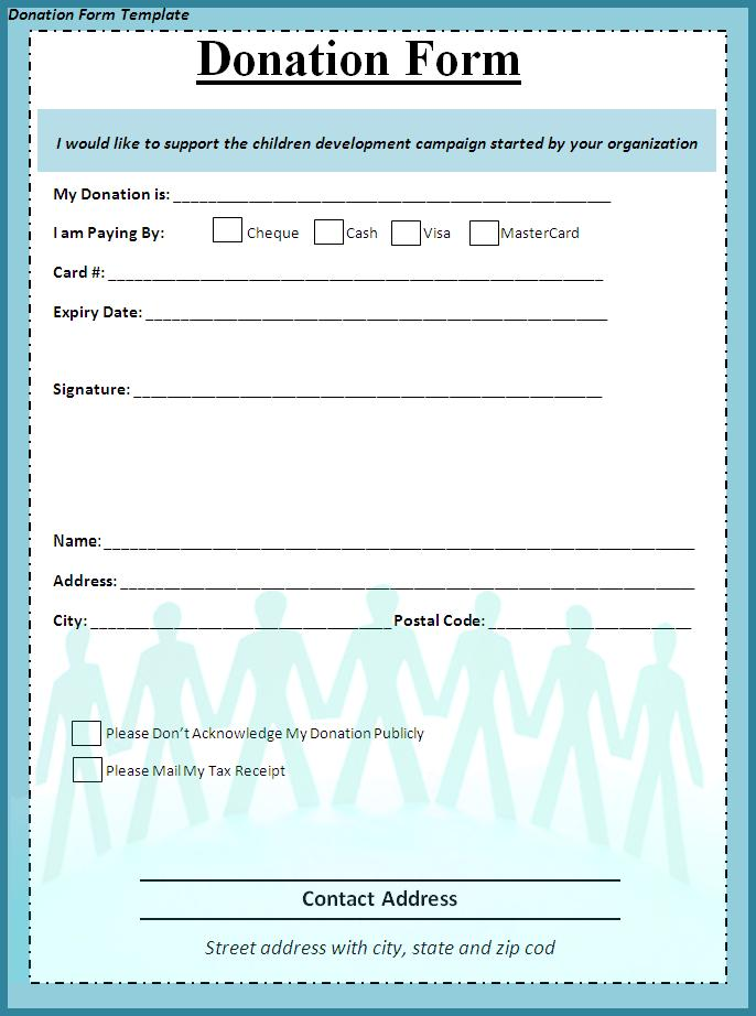 non profit donation form template   April.onthemarch.co