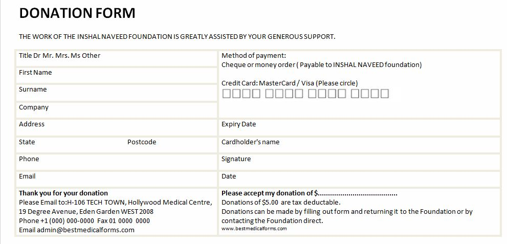 Donation Forms Templates 0 – imzadi fragrances