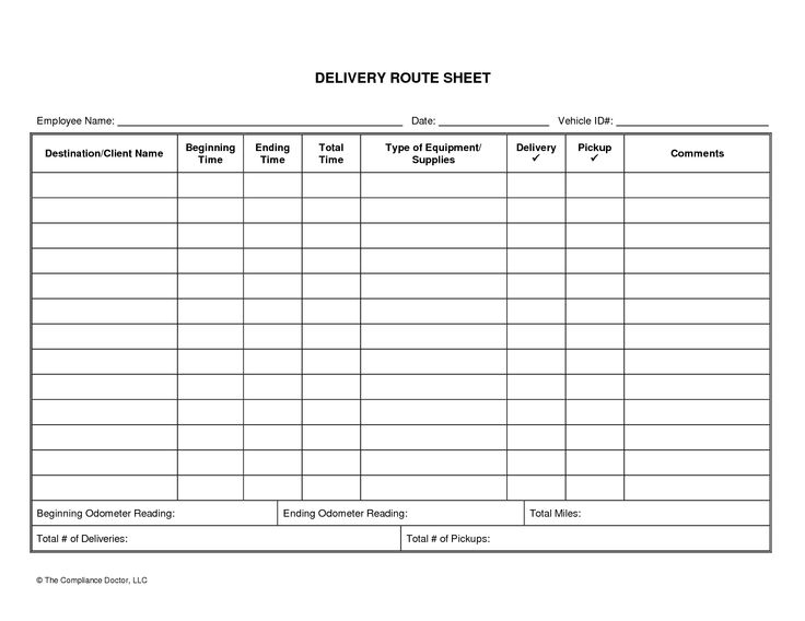delivery log sheet template   Boat.jeremyeaton.co