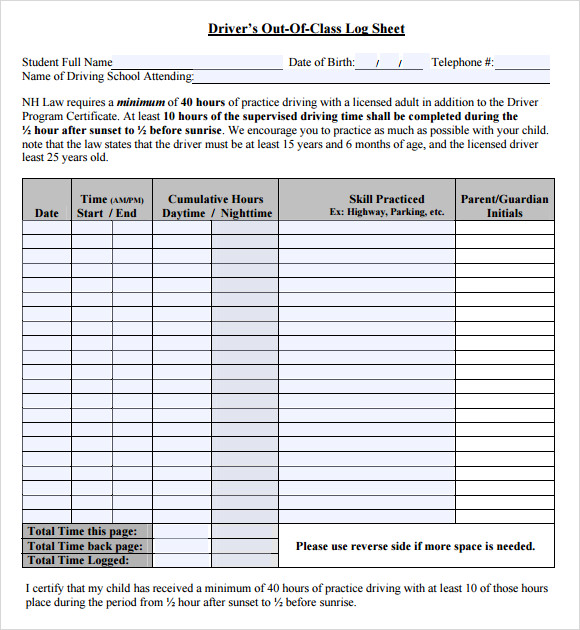 driver log template   Boat.jeremyeaton.co
