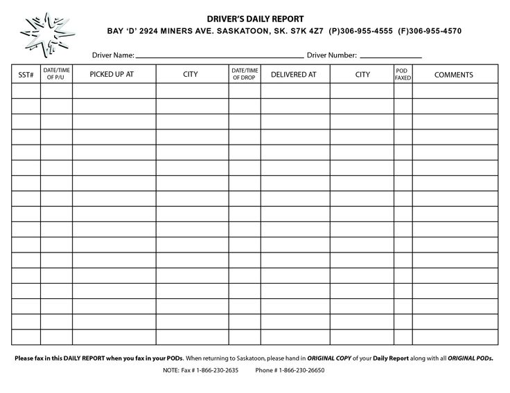 drivers log template   Boat.jeremyeaton.co