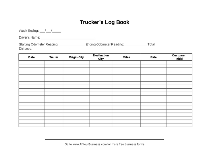 Ms Excel Driving Log Sample Template Document Templates Delivery