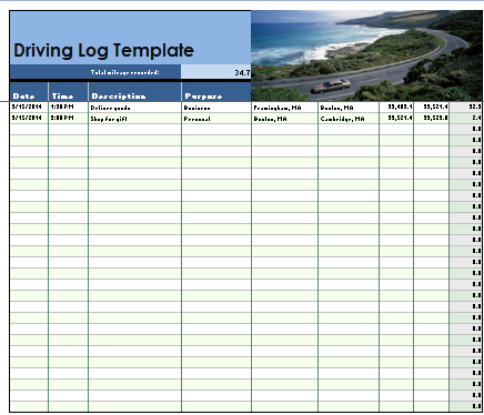driving log template charlotte clergy coalition