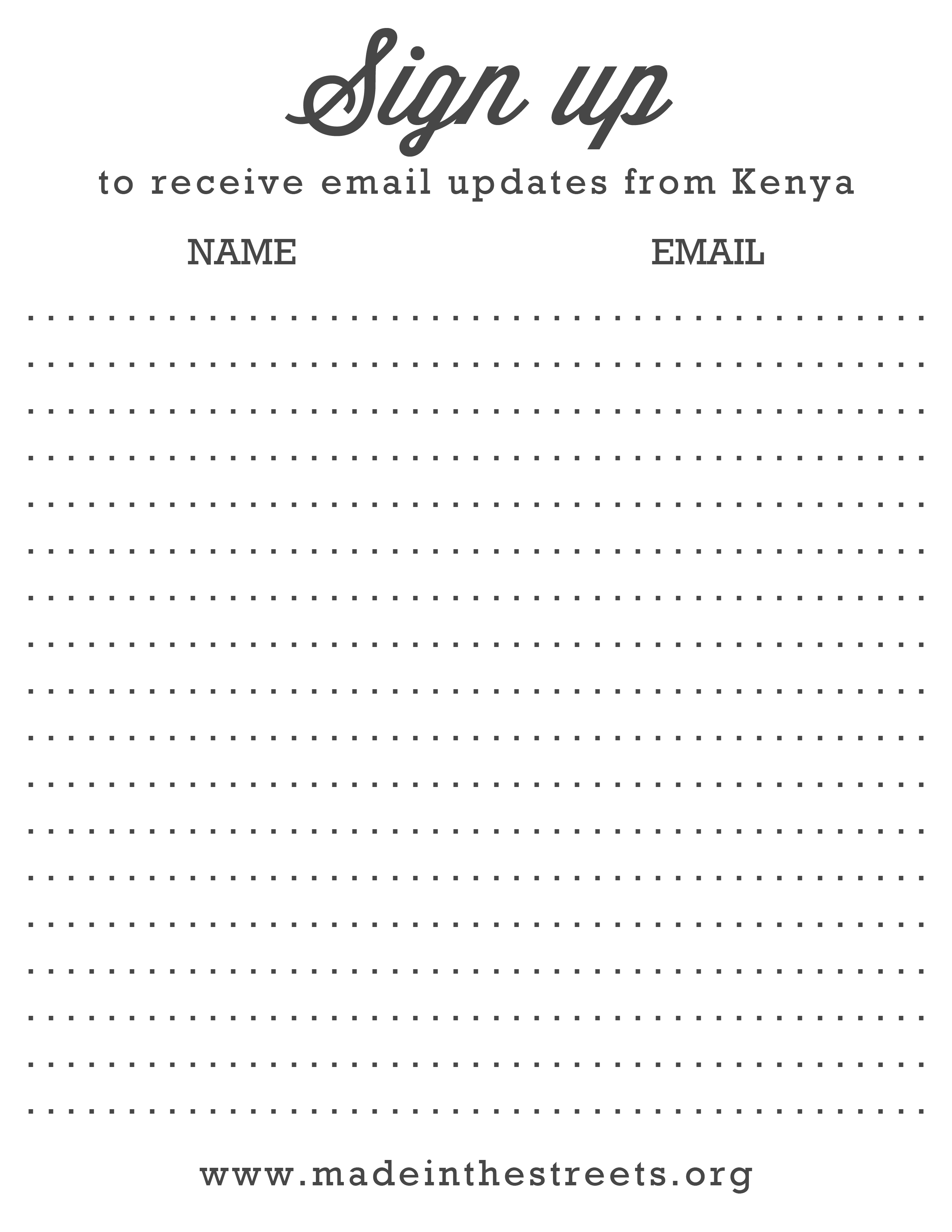 Email Signup Sheet Template Charlotte Clergy Coalition