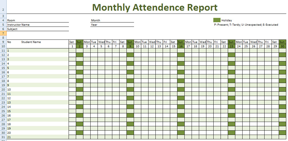 employee attendance record form   Tier.brianhenry.co