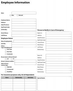 employee form template charlotte clergy coalition