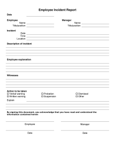 Employee Incident Report Form Doc | charlotte clergy coalition