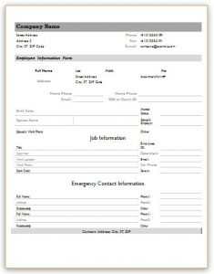 employee information forms templates charlotte clergy coalition