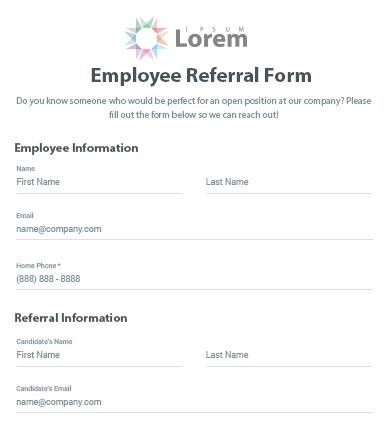 Lovely Employee Referral Bonus Template Free Templatefree Template