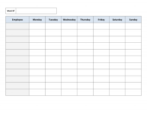 employee schedule templates free charlotte clergy coalition
