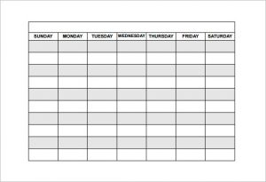 work schedules templates free