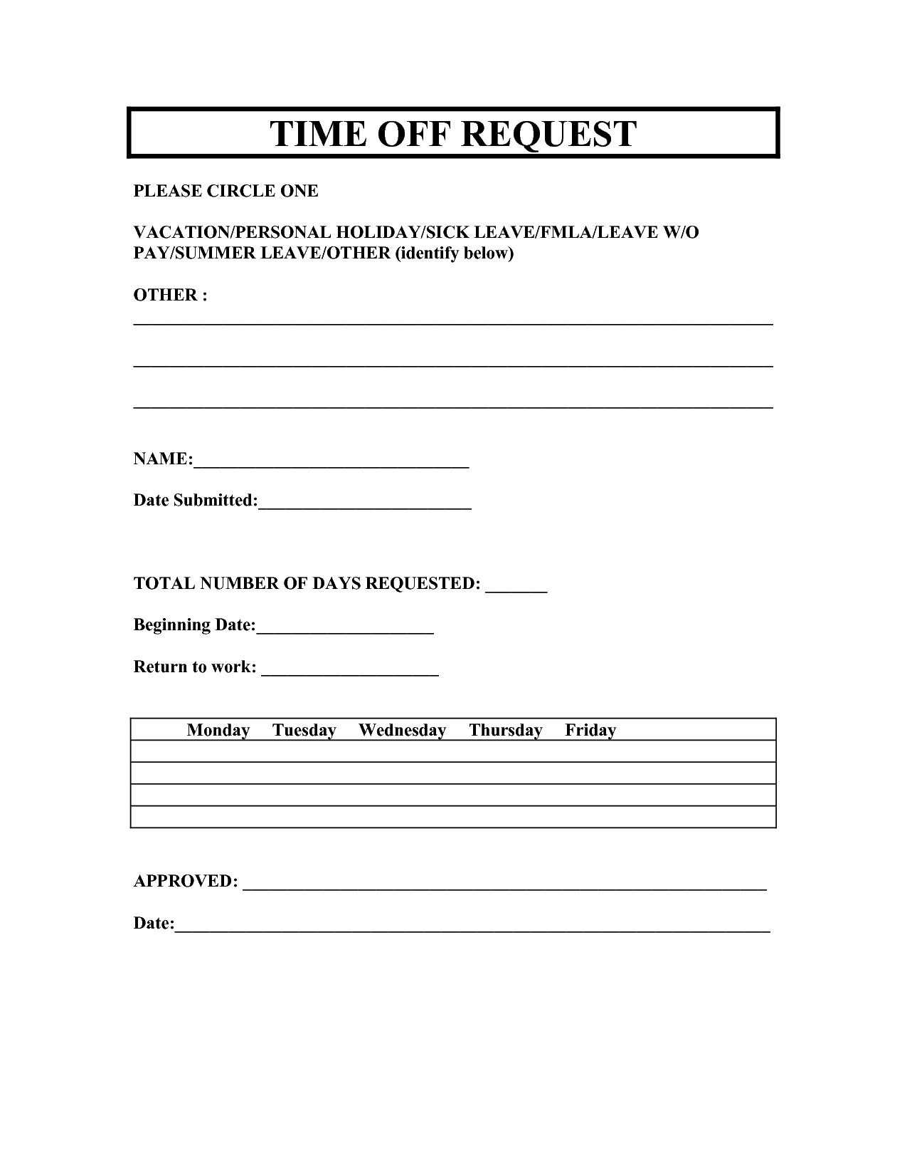 Employee vacation request forms charlotte clergy coalition vacation form template kleoachfix maxwellsz
