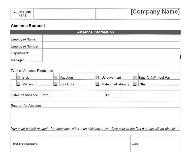 Exceptional Vacation Request Form Templates Vacation Request Form Templates