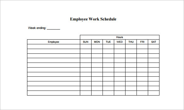 free employee schedule template work schedule template for