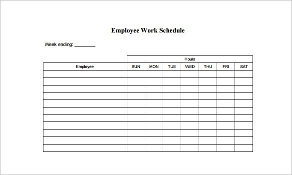 employee work schedule template charlotte clergy coalition