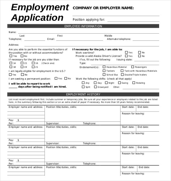 employment form templates charlotte clergy coalition