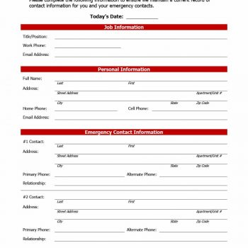 employment forms template 47 printable employee information forms