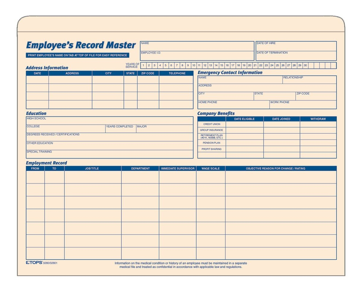 Employee Record Templates   26+ Free Word, PDF Documents Download