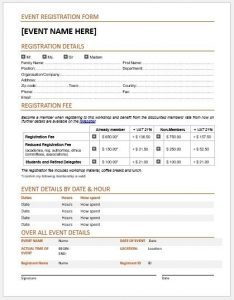 Event Registration Form Template | charlotte clergy coalition