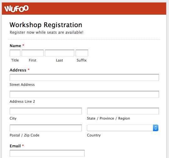 Top 5 Event Registration Form Templates! | Wufoo