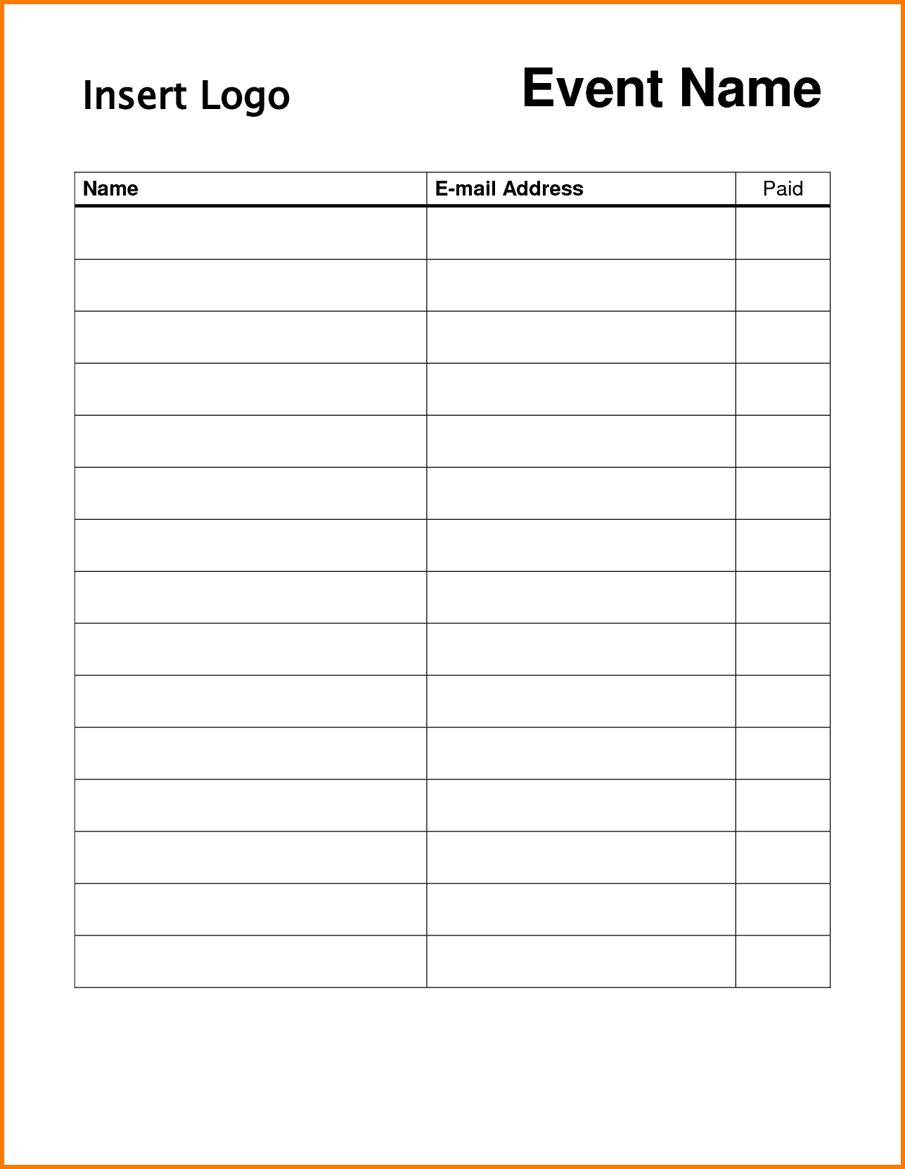 Event Sign Up Sheet Template Charlotte Clergy Coalition