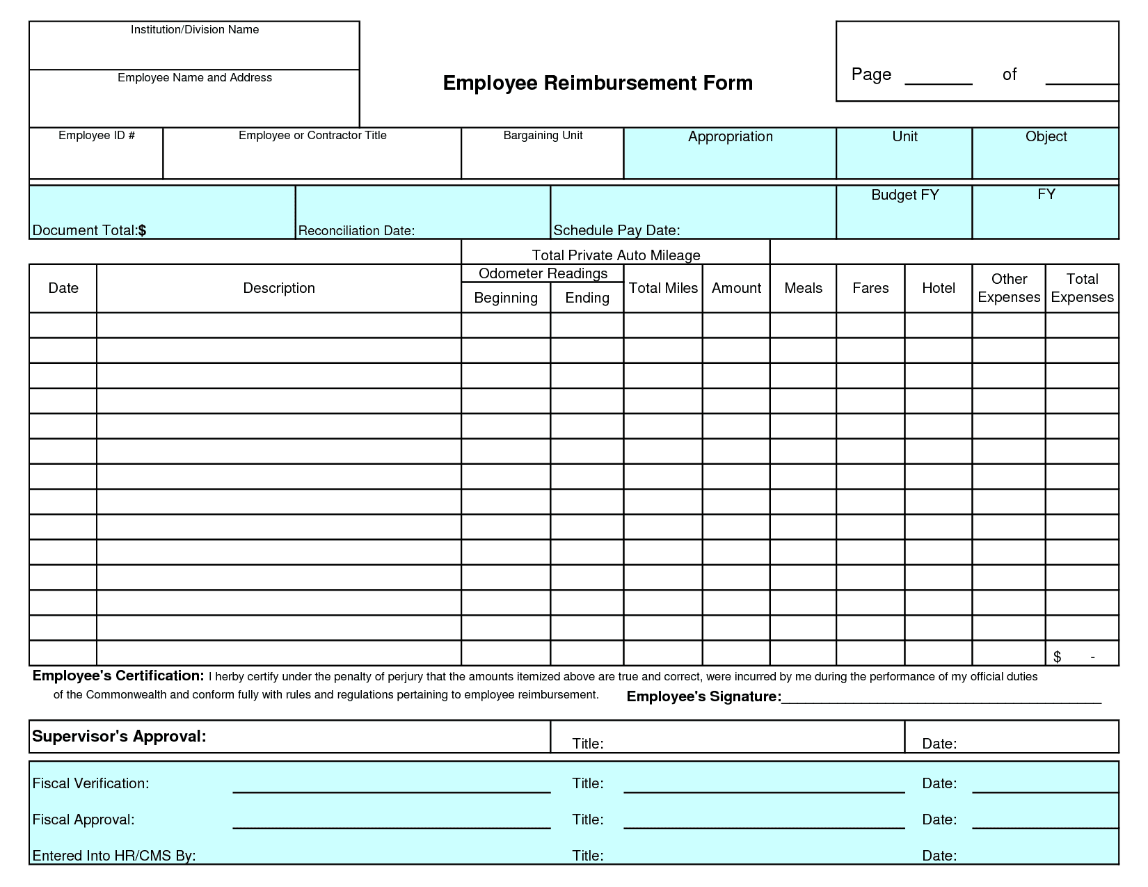travel expenses claim form template Romeo.landinez.co