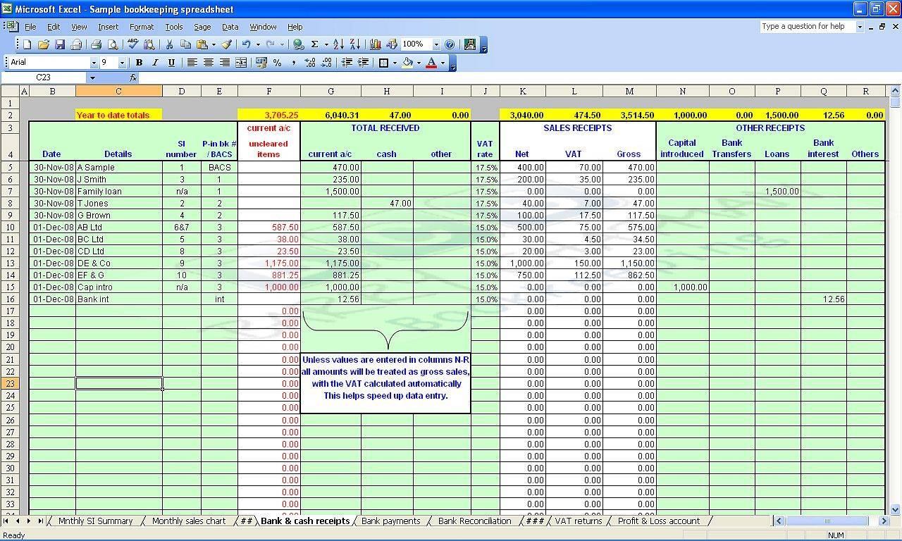 free farm record keeping spreadsheets | Papillon northwan