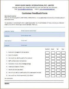 Feedback Form Template Charlotte Clergy Coalition
